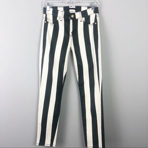 7 For All Mankind | Striped Skinny Jeans